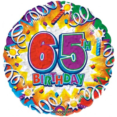 Buy & Send Happy 65th Birthday 18 inch Foil Balloon