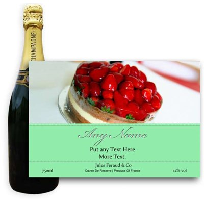 Jules Feraud Brut With Personalised Champagne Label Birthday Cake