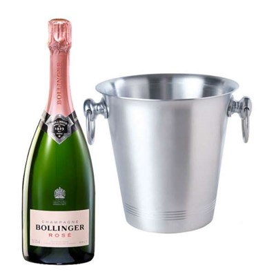Send Bollinger Rose With Ice Bucket