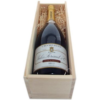 Buy & Send Magnum of Henri Blin & Co, Brut, NV, Champagne, Wooden Box Gift Online