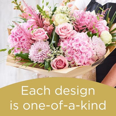 Large Surprise Hand-tied bouquet made with the finest flowers