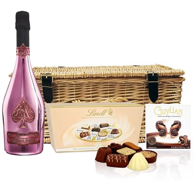 Armand de Brignac Brut Rose NV 75cl And Chocolates Hamper