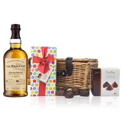 Send Balvenie 12 Year Old DoubleWood and Chocolates Hamper Online
