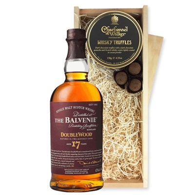 Balvenie DoubleWood 17 Year Old And Whisky Charbonnel Truffles Chocolate Box