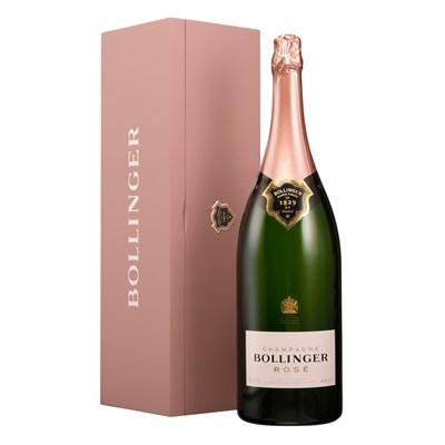 Jeroboam of Bollinger Rose Champagne for home delivery