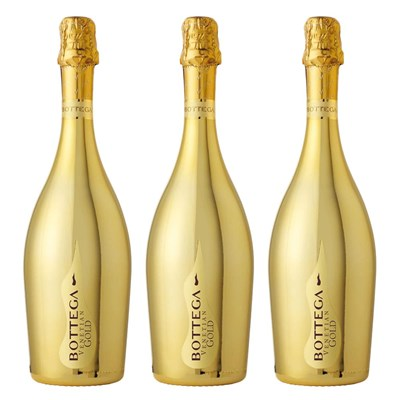 Bottega Gold Prosecco 75cl Treble Prosecco Set