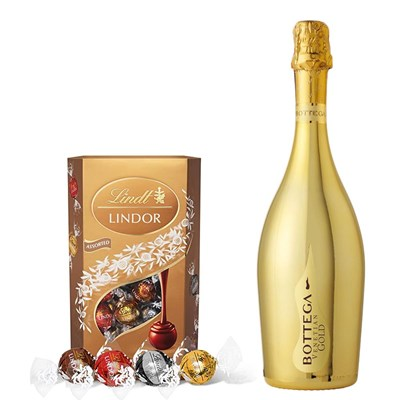 Bottega Gold Prosecco 75cl With Lindt Lindor Assorted Truffles 200g
