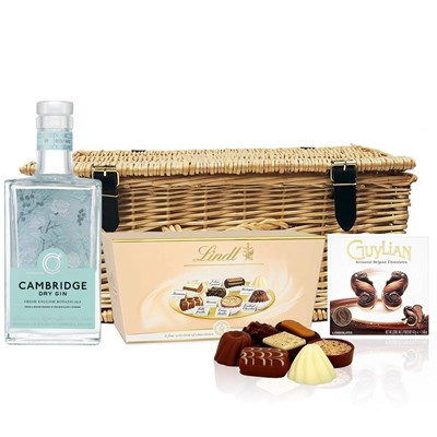 Cambridge Dry Gin 70cl And Chocolates Hamper