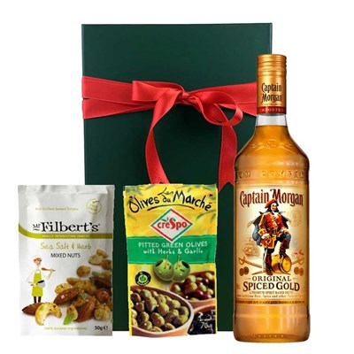Captain Morgan Spiced Gold Nibbles Hamper