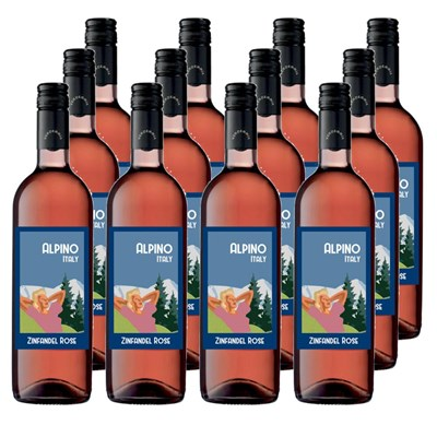 Case of 12 Alpino Pink Zinfandel Wine