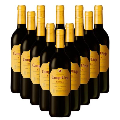 Case of 12 Campo Viejo Tempranillo - Spain Wine