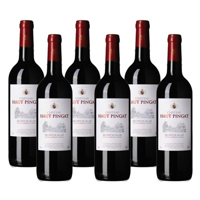 Case of 6 Chateau Haut Pingat Bordeaux Wine