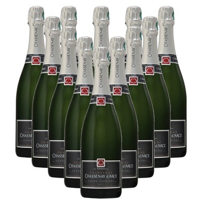 Chassenay d'Arce Cuvee Premiere Brut Champagne Bottle Crate of 12 Champagne