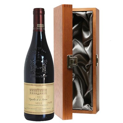 Chateau Beauchene Chateauneuf du pape in Luxury Gift Box