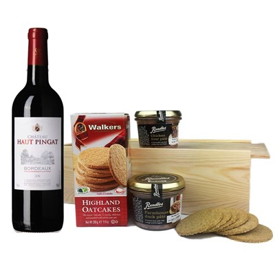 Chateau Haut Pingat Bordeaux - France And Pate Gift Box