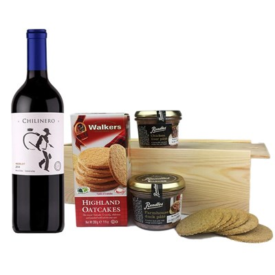 Chilinero Merlot - Chile And Pate Gift Box