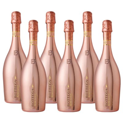 Crate of 6 Bottega Gold Rose Sparkling Prosecco 75cl Prosecco