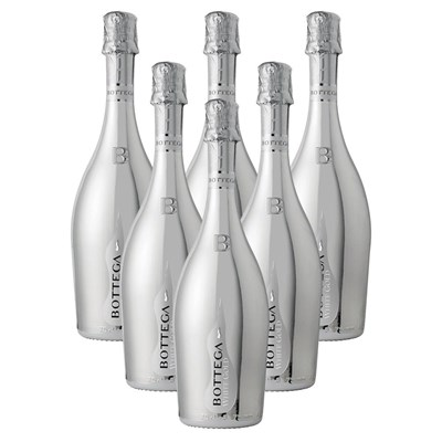 Crate of 6 Bottega White Gold Pinot Nero Spumante Brut Prosecco