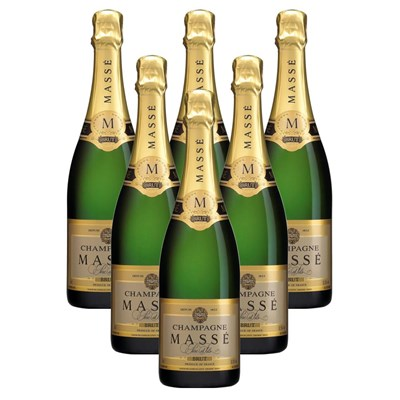 Crate of 6 Masse Brut 75cl Champagne Bottle