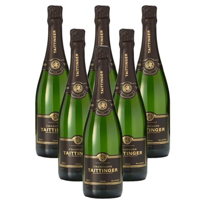 Crate of 6 Taittinger Brut Vintage Champagne 2009 75cl