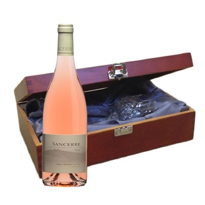 Domaine Doucet Paul & Fils Sancerre Rose - France In Luxury Box With Royal Scot Wine Glass