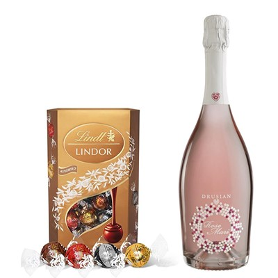 Drusian Spumante Rose Mari With Lindt Lindor Assorted Truffles 200g