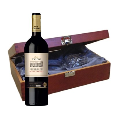Dulong Bordeaux Merlot-Cabernet In Luxury Box With Royal Scot Wine Glass