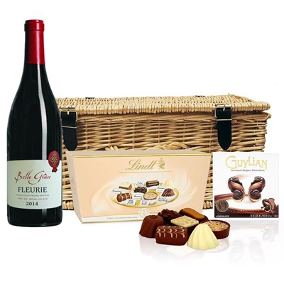Fleurie Domaine du Montillet And Chocolates Hamper