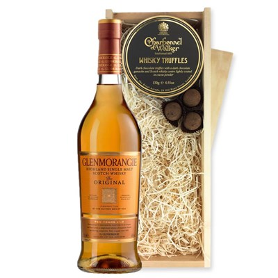 Glenmorangie 10 Year Old Single Malt Whisky And Whisky Charbonnel Truffles Chocolate Box