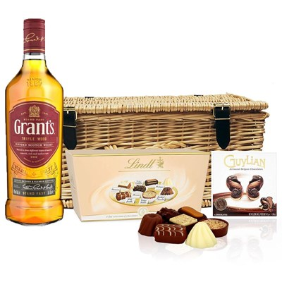 Grants Blended Scotch Whisky 70cl And Chocolates Hamper