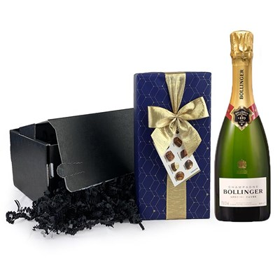 Half Bottle of Bollinger Special Cuvee Champagne 37.5cl And Chocolates Gift Carton