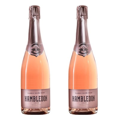 Hambledon Classic Cuvee Rose English Sparkling Wine 75cl Twin Set