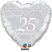 Buy & Send Happy 25th Anniversary 18 inch Foil Balloon