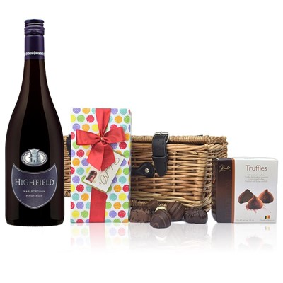 Highfield Pinot Noir - New Zealand And Chocolates Hamper
