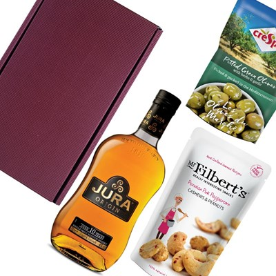 Isle of Jura 10 Year Old Whisky Nibbles Hamper