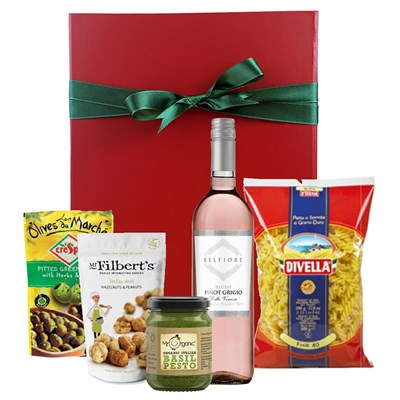 Italian Celebration Hamper With Belfiore Pinot Grigio Blush