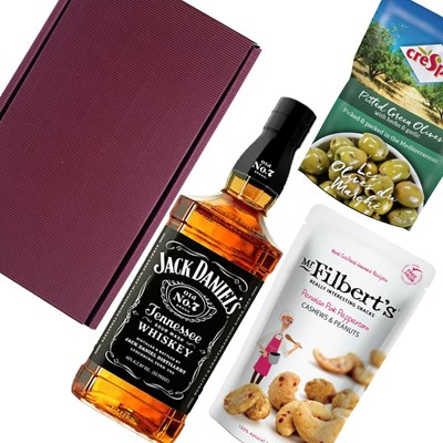 Jack Daniels Tennessee Whisky Nibbles Hamper