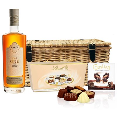 Lakes The One Signature Blended Whisky 70cl And Chocolates Hamper