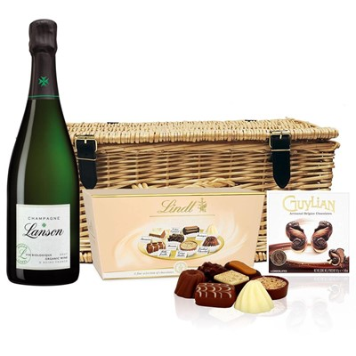 Lanson Green Label Organic Champagne 75cl And Chocolates Hamper