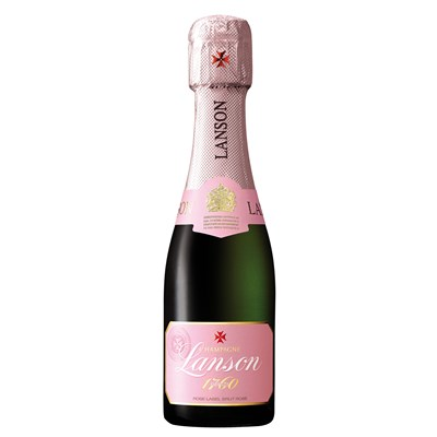 Send Mini Lanson Rose Champagne 20cl Online