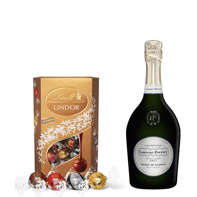 Laurent Perrier Blanc de Blancs Champagne 75cl With Lindt Lindor Assorted Truffles 200g