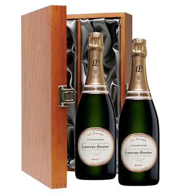 Laurent Perrier La Cuvee Gift Boxed 75cl Champagne Double Luxury Gift Boxed Champagne