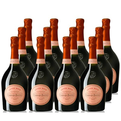 Laurent Perrier Rose NV 75cl Crate of 12 Champagne