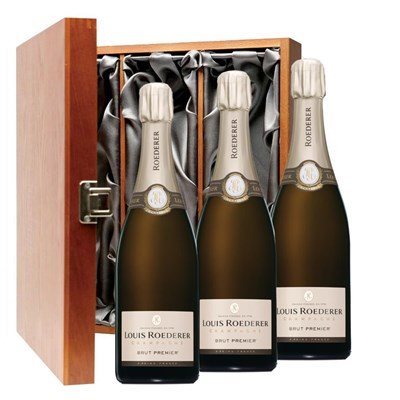 Louis Roederer Brut Premier Champagne Bottle, Gift Boxed Treble Luxury Gift Boxed Champagne