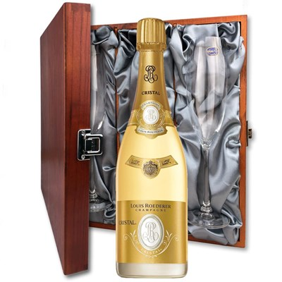 Louis Roederer Cristal Cuvee Prestige 2012 And Flutes In Luxury Presentation Box