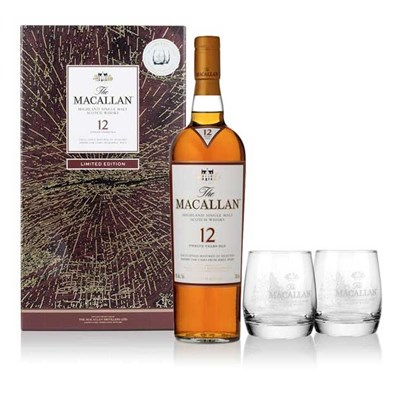 Macallan 12 Sherry Oak Limited Edition Glass Gift Pack