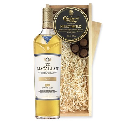 Macallan Double Cask Gold And Whisky Charbonnel Truffles Chocolate Box