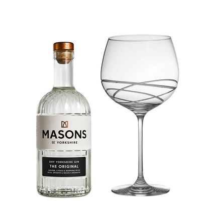 Masons of Yorkshire The Original Gin 70cl And Single Gin and Tonic Skye Copa Glass