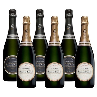Mixed Case of Laurent Perrier La Cuvee and Vintage Brut (6x75cl)