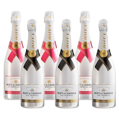 Mixed Case of Moet Ice White and Moet Ice White Rose (6x75cl)